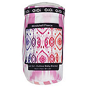 OiOi Outdoor Blanket Ikat Girl