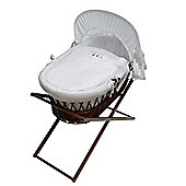 Wicker Moses Basket Stand in Dark