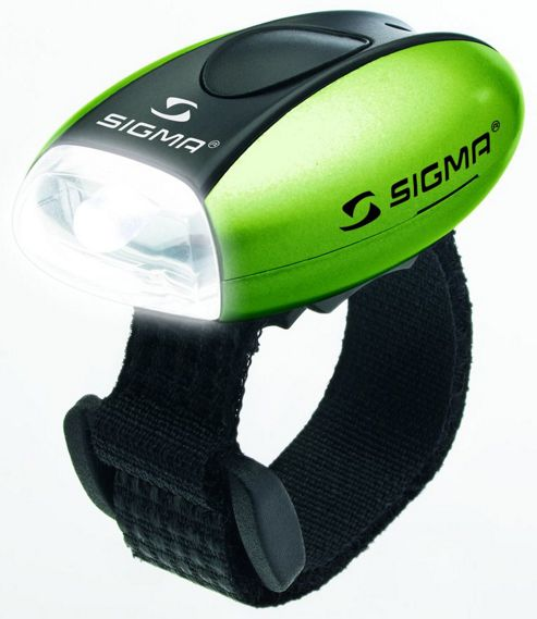 Sigma Sport Micro Front LED: Green.