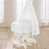 Leipold Noblesse Wicker Drape Crib in White