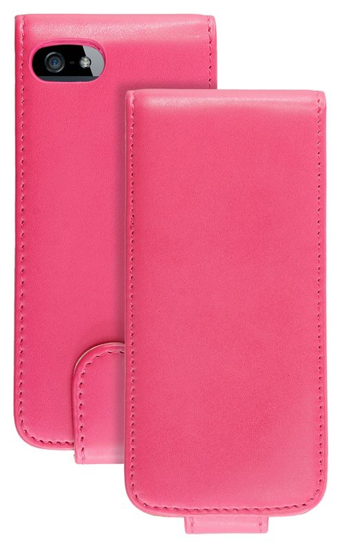 Caseit Leather Effect Flip Case Cover for iPhone 5/5S - Pink