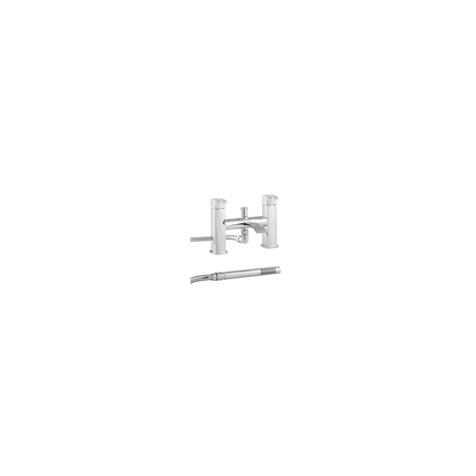 Twyford QB Deck Mounted Bath Shower Mixer Tap Chrome at Tesco Direct