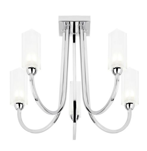 Endon Lighting Five Light Semi Flush Mount in Polished Chrome