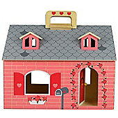 Marionette 19 Piece Wooden Painted Dolls House