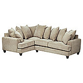 Kensington Fabric Scatter Back Left Hand Facing Corner Sofa Taupe