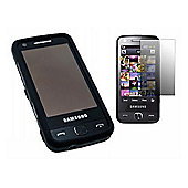 iTalkOnline Black Hybrid Case + Screen protector and Cleaning Cloth - M8910 Pixon 12