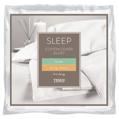 Tesco Cotton Cover 4.5 Tog Anti Allergy Duvet, Double