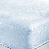 Single Cot Bed Terry Fitted Sheet (Blue)