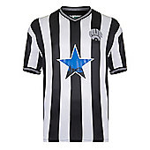 Newcastle United 1984 Home Shirt Black & White L