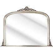 D & J Simons Overmantle Mirror - Silver - 81cm W x 105cm H