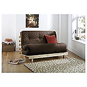Helsinki Pine Double Futon With Mattress Chocolate