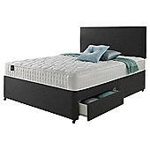 Rest Assured Classic 2 Drawer Super King Divan and Headboard Charcoal