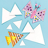 Kids Crafts Triangle Card Blanks (Pack of 10)