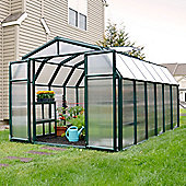 Rion Polycarbonate Greenhouse Hobby Gardener 8X12 Dark Green extruded resin frame