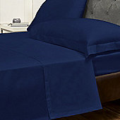 Julian Charles Percale Navy Luxury 180 Thread Count Flat Sheet - King Size