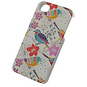 Tortoise™ Hard Protective Case, iPhone 4/4S. Cream with Bird design