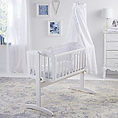 Clair de Lune Broderie Anglaise 2 Piece Crib Bedding Set