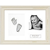 3D Baby Casting Kit - Shabby Chic Cream Frame - Silver Paint