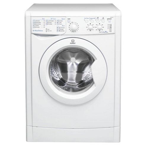 Indesit IWSC61051 ECO Washing Machine , 6Kg Wash Load, 1000 RPM Spin, A+ Energy Rating, White