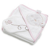 OBaby B is For Bear Bath Robe & Mitten - Pink