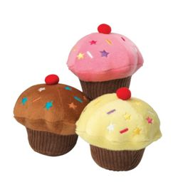 House of Paws Vanilla Scented Cupcake Dog Toy - Chocolate