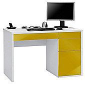 Maja Club White and Curry Computer Desk