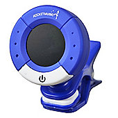 Rocket Digital Clip-On Tuner - Blue & White