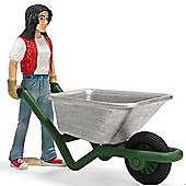 Schleich Stable Girl With Wheelbarrow