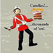 Holy Mackerel Greeting Card - Candles - 1000s of em Birthday Greetings card