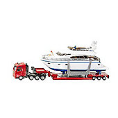 Vehicles - Super 1:87 - Heavy Haulage Transporter With Yacht 1849 - Siku