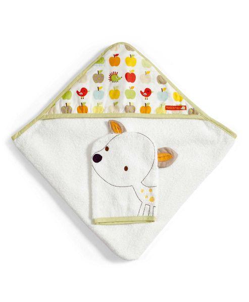 Mamas & Papas - Rosie & Rex - Hooded Towel & Mitt