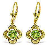 QP Jewellers 1.10ct Peridot Corona Earrings in 14K Gold