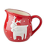 Red Reindeer Christmas Serving Jug