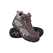 Peak Extreme Womens Waterproof Breathable Walking Hiking Comfort Suede Boots - Grey