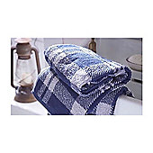 Catherine Lansfield Home Cosy Corner Swing Kelso Jacquard 500gsm Bath Sheet Navy