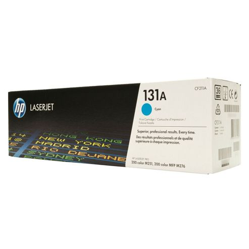 HP 131A Cyan Toner Cartridge (Yield 1800 Pages) for LaserJet Pro 200 M276n/M276nw Multifunction Printers