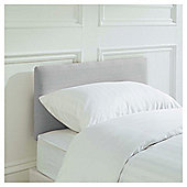Seetall Mittal Headboard Linen Effect Light Grey Single