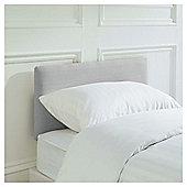 Seetall Mittal Headboard Linen Effect Light Grey Single