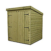 6ft x 4ft Windowless Pressure Treated T&G Pent Shed + Double Doors