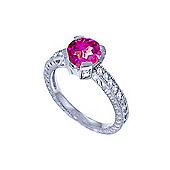 QP Jewellers Diamond & Pink Topaz Fantasy Ring in 14K White Gold