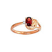QP Jewellers Diamond & Garnet Angel Ring in 14K Rose Gold