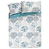 Meadow Watercolour Floral Print Duvet Set, Kingsize