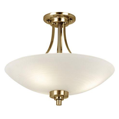 Endon Lighting Welles 3 Light Semi Flush Light - Antique Brass