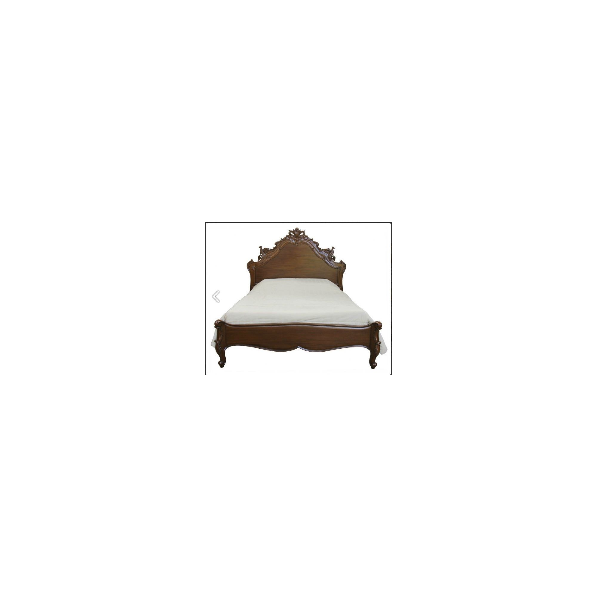 Lock stock and barrel Mahogany Versailles Carved Bird Bed in Mahogany - Antique White - Double at Tesco Direct