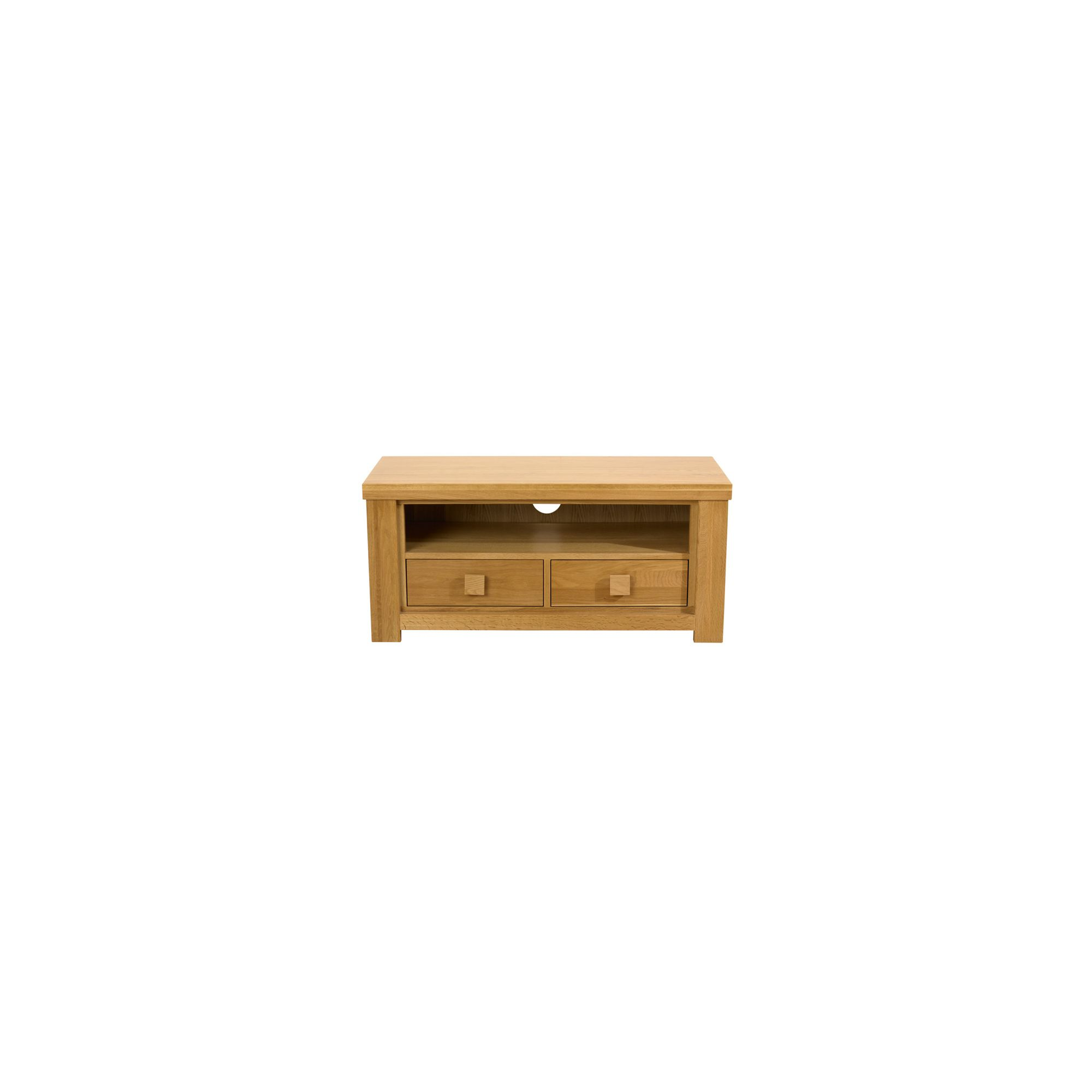 Mark Harris Furniture Barcelona 2 Drawer TV Unit in Solid Oak at Tescos Direct
