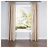 Faux Silk Lined Pencil Pleat Curtains - Natural