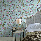 Graham & Brown Chinoiserie Wallpaper - Duck Egg