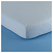 Tesco Loves Baby Cot Jersey Fitted sheet 2 pack blue