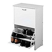 Premier Housewares Shoe Rack/Cupboard in White