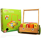 Parkfield Wooden Push Along Baby Walker and Soft Blocks
